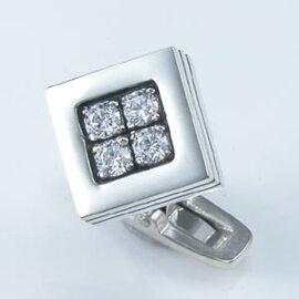 美しい輝き『Glass』/シルバーカフスDK-007