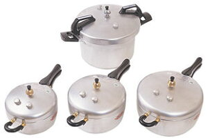 高温・高圧調理のアルミ製圧力鍋 玄米がもっちりと炊ける平和圧力鍋 PC-28A 約5合炊1023max10