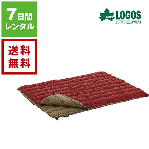 【レンタル】LOGOS ロゴス 2in1 Wサイズ丸洗い寝袋 0《7日間レンタル》往復送料無料