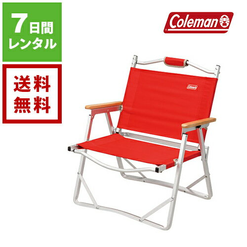 【レンタル】Coleman コールマン コンパクトフォールディングチェア レッド 170-7670《7日間レンタル》往復送料無料