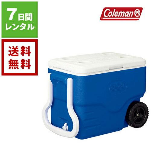 【レンタル】Coleman コールマン ホイールクーラー 40QT ブルー/ホワイト 2000025240《7日間レンタル》往復送料無料