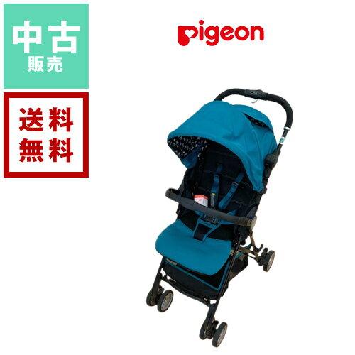 【中古】ピジョン Pigeon A型ベビーカー 背面式ベビーカー パタン グリーンドット 0歳から3歳【送料無料】 ベビー用品 赤ちゃん 中古販売 格安 レンタル落ち