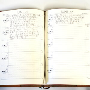 ディアカーズ革カバー5年日記-アルファベット刺繍ブラウン【楽ギフ_包装】【連用日記帳/ダイアリー】【ディアカーズ】