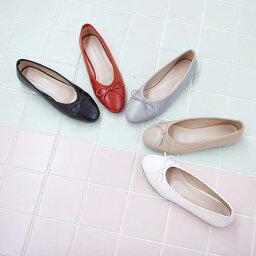 バレエシューズ フラットシューズ パンプス リボン レディース ローヒール 靴 婦人靴 黒 ブラック 白 ホワイト ベージュ レッド 歩きやすい 痛くない※注意※セール品につき、返品・交換は一切受け付けておりません