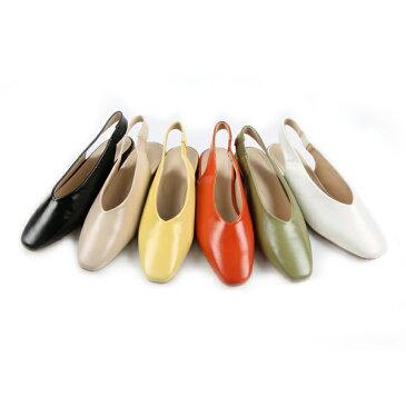 パンプス ローヒール バックストラップ 太ヒール 黒 ブラック ホワイト オレンジ イエロー ベージュ レディース 靴 婦人靴セール品につき、返品・交換は一切受け付けておりません