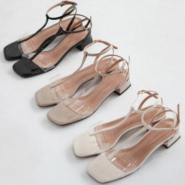 パンプス ローヒール アンクルストラップ トング 黒 ブラック アイボリー ベージュ レディース 靴 婦人靴セール品につき、返品・交換は一切受け付けておりません