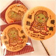 【アマビエクッキー(単品/A:終息を祈って)】終息を祈るプリントクッキー【期間限定】