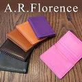 イタリア・A.F.Florence(A.F.フローレンス)/ スムースナッパレザー 名刺入れ(カードケース)