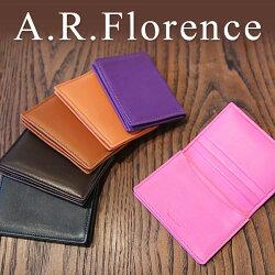 A.R.Florence(A.R.フローレンス)/スムースレザー名刺入れ(カードケース)