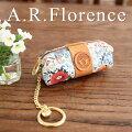 イタリア・A.F.Florence(A.F.フローレンス)/ フラワー コイン&キーケース