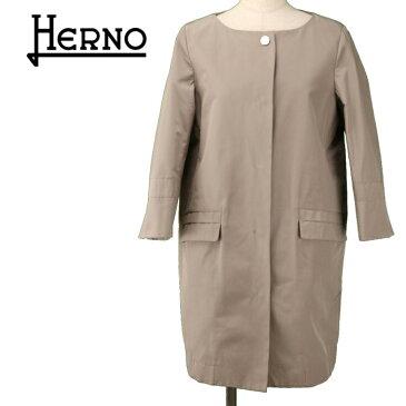HERNO ヘルノ 高級コート ラグジュアリー レディース きれいめ 七分袖 グレー ブランド 送料無料