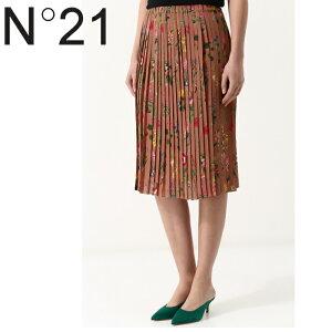 【あす楽】N°21ヌメロヴェントゥーノ春夏スカート花柄イタリア製シルク100%サイズ38ラグジュアリートップブランド送料無料