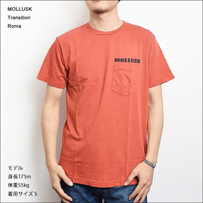 【メール便】MOLLUSK(モラスク)【MF14005】TRANSITIONTeeShirtsRomaTシャツ