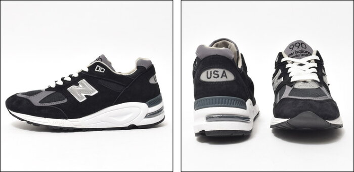 NEWBALANCEニューバランス【M990BK2】NavyDワイズメンズスニーカー靴・スニーカー