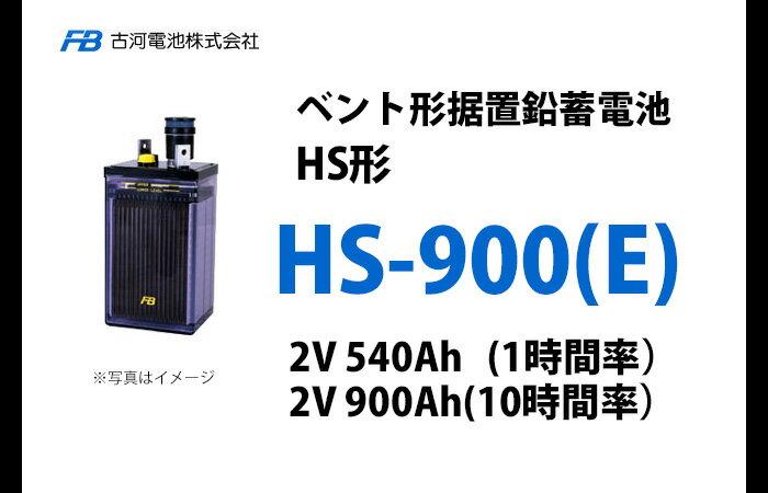 【お買物マラソン期間中 ポイントアップ】【受注品】HS-900E 古河電池製 ベント型据置鉛蓄電池 HS形<代引不可><メーカー直送品>【キャンセル返品不可】