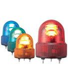 パトライト(PATLITE) LED小型回転灯 SKHE-100 AC100V Ф118 防滴パトランプ 回転 緑色、青色