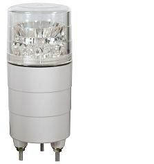 日恵製作所 LED超小型回転灯 ニコミニ VL04M-024DC AC/DC24V Ф45 制御入力有りブザー付き 2色(赤...