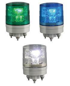 日恵製作所 LED超小型薄型回転灯 ニコミニ・スリム VL04S-024A AC/DC12-24V Ф45 制御入力有り...