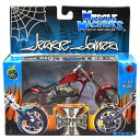 MUSCLE MACHINES - WESTCOAST CHOPPERS 1:18SCALE JESSE JAMES EL DIABLO - RIGID(CANDY RED)MOTORCYCLE マッスルマシンズ - ウエストコースト・チョッパーズ 1:18スケール ジェシー・ジェームス「エルディアブロ リジッド」(キャンディレッド) バイク