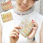 coppiaコッピア二つ折り財布|レディースミニ財布イタリアブランドカラフルモザイク柄コンパクトファッションホック式おしゃれかわいい可愛い女性