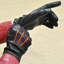 手袋 レザー 本革 イタリア製 ナポリ カシミヤライニング バイカラー パンチング 革手袋 革 手袋 レザー手袋 レザーグローブ メンズ ギフト