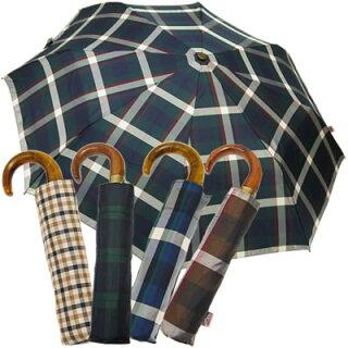 折りたたみ傘イタリア製老舗傘メーカーrainbowレインボー天然木ウッドハンドルワンタッチ折りたたみ傘