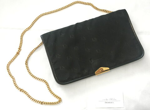 【ChristianDior】クリスチャンディオール・ヴィンテージチェーンショルダーバッグv1325【DIGDELICA】ディデリカ 鞄 UESD中古品 年代物