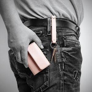 新構造キーホルダー本革セパレート仕様日本製本革仕様ベルトの革を使った頑丈な作り便利な取り外し機能付きベルト職人が作るキーホルダースマートキーケース「アカギ」