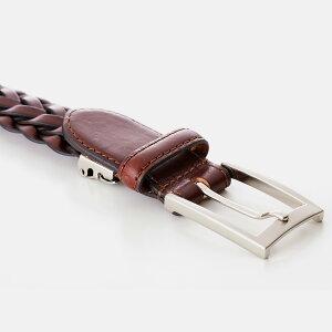 ベルトメンズベルトビジネスベルトメッシュ本革日本製こだわりの編み込み丁寧に編み込んだ本革仕様ビジネスにカジュアルに使い方自由「M−01」