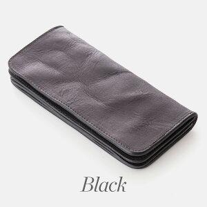 財布長財布国内生産完全手作り本革素材感と縫製にこだわったハンドウォッシュ加工の財布ユーズド感のある仕上がり日本製の完全自社染色「abbaLong」
