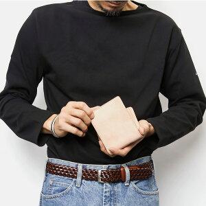 財布二つ折り財布メンズ本革味のある革に仕上げました本革を使ったハンドウォッシュ加工ユーズド感を演出使い込むほど味が出る「abbaShort」