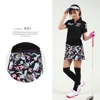 ゴルフウェアレディースゴルフスカート大きいサイズゴルフスカートレディース春夏ゴルフレディースウエアラップドットストライプ柄かわいいおしゃれgolfブルークラッシュドラゴン