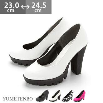 [11 cm粗跟&帥氣軍風厚底高跟包鞋 |GS | |]◆ 已入庫