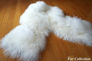 チベットラムファーポケット付ストールフォックス・バレンシアガ・チンチラ・ミンク・毛皮お好きな方に