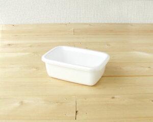 *野田琺瑯ホワイトシリーズ レクタングル深型S