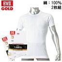 【2枚セット】B.V.D.GOLD 丸首半袖シャツ BVD ゴールド 丸首 紳士 インナーシャツメンズ 男性用 / Tシャツ 半袖 インナー アンダーウェア アンダーシャツ 下着 肌着