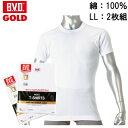 【LL】【2枚セット】B.V.D.GOLD 丸首半袖シャツ BVD ゴールド 丸首 紳士 インナーシャツメンズ 男性用 / Tシャツ 半袖 インナー アンダーウェア アンダーシャツ 下着 肌着