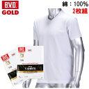 【2枚セット】B.V.D.GOLD V首半袖シャツ BVD ゴールド V首 G044 紳士 インナーシャツメンズ 男性用 / Tシャツ 半袖 インナー アンダーウェア アンダーシャツ 下着 肌着