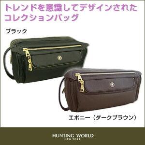 【HUNTING WORLD】 ハンティングワールド メンズ セカンドバッグ TRANSCEND シリーズ 3483【選...