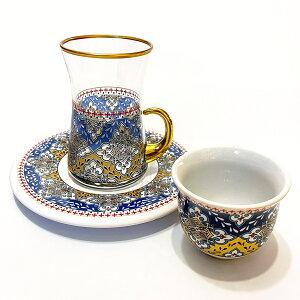 トルコチャイグラス カップ&ソーサー セット 耐熱ガラス MTSG-8 おしゃれ トルココーヒー グラス インテリア 飾り棚用 クリア ガラス 紅茶 コーヒー 来客用 人気 カップソーサーセット プレゼント ギフト 贈り物 おすすめ トルコ雑貨 食器 送料無料