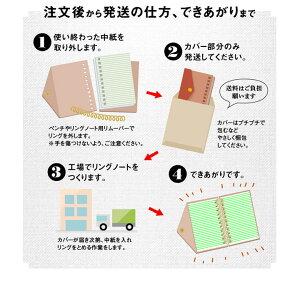 革カバーのリングノート専用選べる詰め替え用中紙注文から発送できあがりまで