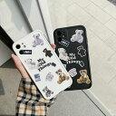 【期間限定保護フィルムプレゼント】iphone11 ケース 韓国 シリコン テディベアレトロケース ……