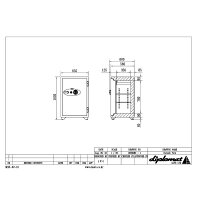 ディプロマット・ジャパンデジタルテンキー式耐火金庫100EKR3(シリンダーキー付)A4対応OFFICESAFE<業務用耐火金庫>90分耐火耐衝撃落下・急加熱・爆発試験合格モデル容量129L