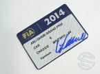 【送料無料】 ニコ・ロズベルグ 2014年 メルセデス AMG アブダビGP W05-04 実使用 車検証 (海外直輸入 F1 非売品USEDグッズ)