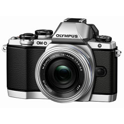 【送料無料】オリンパス OM-D E-M10 14-42mm EZ レンズキット シルバー (ミラーレス一眼カメラ)