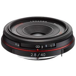 【送料無料】ペンタックス HD PENTAX-DA 40mm F2.8 Limited ブラック 《9月20日発売予定》