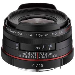 【送料無料】ペンタックス HD PENTAX-DA 15mm F4 ED AL Limited ブラック 《9月20日発売予定》
