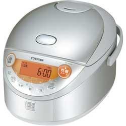 ◎東芝 IH保温釜 炊飯器 RC-6GSE(S) シルバー IHと遠赤外線で炊きあげる3.5合炊飯器