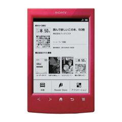 ソニー 電子書籍リーダー Wi-Fiモデル/6型 PRS-T2 (R)レッド