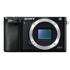 【送料無料】ソニー α6000 ボディ ブラック (Sony ミラーレス一眼カメラ) 《発送の目安:約1-2...